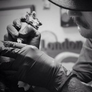 Johnny Fletcher_Tattooing_B&W